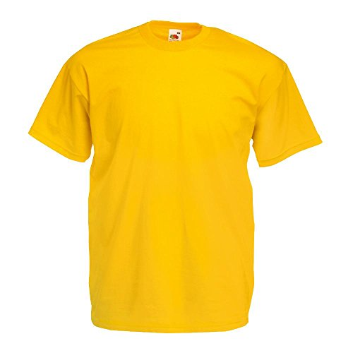 T-SHIRT FRUIT OF THE LOOM VALUE T S M L XL XXL sunflower