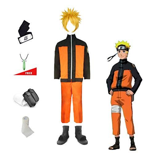 Lackingone Naruto Uzumaki Shippuden Ninja Cosplay Kostüm Set (Naruto Uzumaki Cosplay Kostüm)