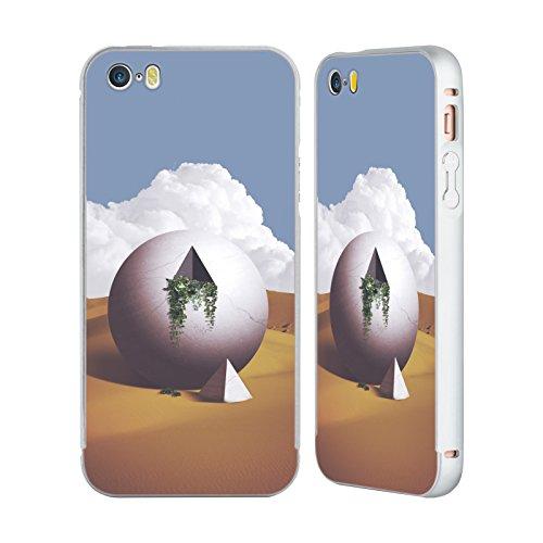 Ufficiale Lacabezaenlasnubes Tuffo Nel Cielo Surreale Argento Cover Contorno con Bumper in Alluminio per Apple iPhone 5 / 5s / SE Astronauta