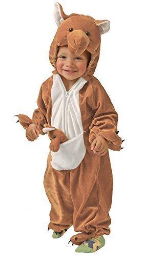 Kinder Kangaroo Kostüm (Baby Mädchen Junge Braun Kangaroo Australischer Tier Kostüm Kostüm Outfit 6-12 12-24 monate - Braun, 12-24 Monate)