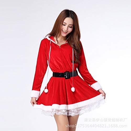 Yunfeng weihnachtsmann kostüm Damen Kleidung Dessous einheitliche verlockend sexy roten Weihnachtself Anzug Kostüm Erwachsene Weihnachtsfeier Cosplay Kostüm