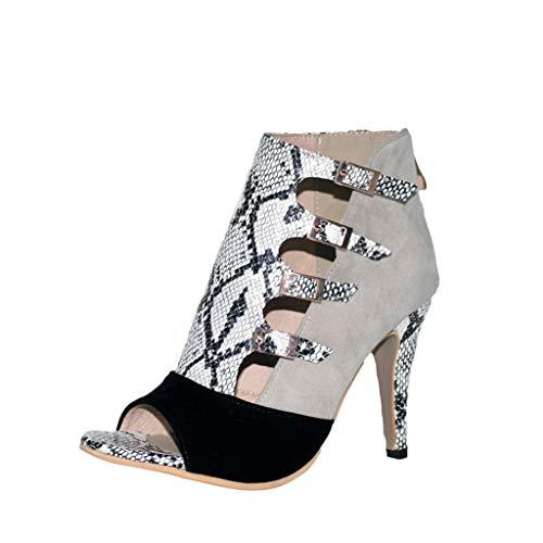 Scarpa con tacco donna eleganti sandali moda donna stivaletto scarpe a calza donna europa e america paillettes sandali corrispondenza dei colori caviglia tacco alto inverno scarpe elegante qinsling