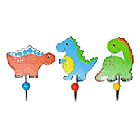 Kids Dinosaur Coat Hooks for Boys Bedroom or Baby Nursery Decoration