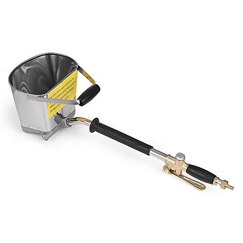 Duty Sprayer (ETE ETMATE Cement Mortar Spray Gun Hopper Gun 4 Jet Hopper Plaster Concrete Cement Sprayer Gun Stucco Sprayer for Walls and Ceilings DIY)