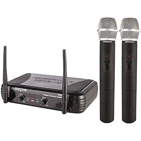Novopro V20 Doble VHF Micrófono Sistema