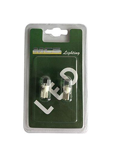 Melchioni 322199969 blister 24 V LED w2,1 x 9,5d, blanc, lot de 2