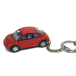 Porte-clés Coccinelle VW New Beetle rouge