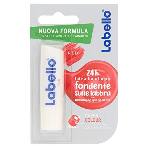 Labello care & colour balsamo labbra, formula senza oli minerali e parabeni, 24h di idratazione, rosè