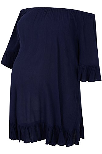 Femme Bump it Up Maternité Gypsy plissé Palangre haut avec col élastique Bleu Marine