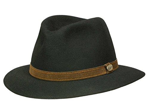 Rustico Negro Traveller Fieltro Sombrero de Kanin Cabello fieltro de  Borsalino negro Medium 6cbc1a8400c