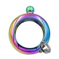 Zihuist Stainless Steel Bangle Bracelet Flask 3.5 Oz. (Rainbow) Wine Pot