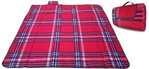 Roseem Waterproof X-large Thicken Picnic Blanket Aluminum Foil Mat (Red)