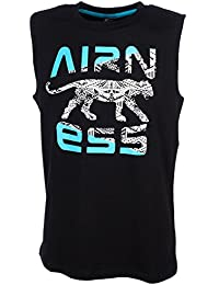 Airness - Debstin noir turq - Tee shirt sans manches