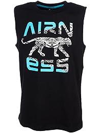 Airness - Debstin noir turq - Tee shirt sans manches