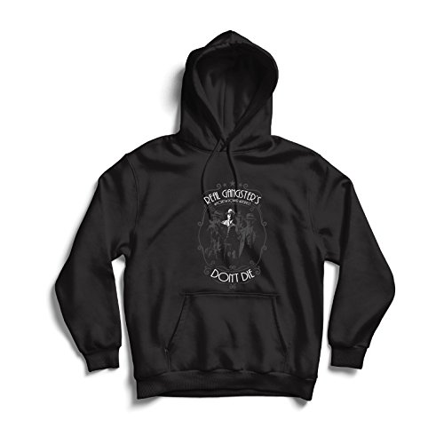 lepni.me Hoodie Real Gangsters Never Die - Italian - Sicilian Mafia Quotes - The Godfather - Cosa Nostra
