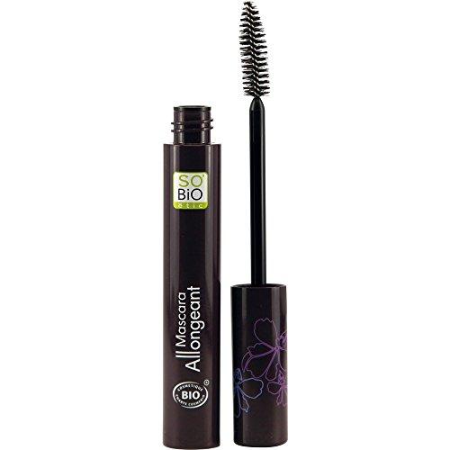 SO 'BIO ETIC - Mascara Allongeant EcoBio 01 Noir Chic - Avec huile de ricin renforçant - Cils longs et attrayants - Applicateur spécial - Certifié biologique et Ecocert - 10 ml