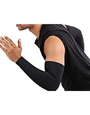 Verceys AquaX Unisex Compression Arm Sleeves - Pack of 1 Pair - Designed for Men's & Women's - Tennis, Basketball, Baseball, Football, Soccer, Cricket, Golf, Cycling, Running & Injury Recovery