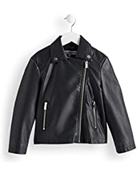 RED WAGON Girl's Leather Look Biker Jacket