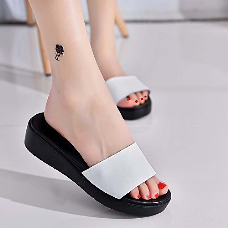 scloths tong pantoufles style simple femme plage blanche 8.5 forfaitaire similicuir 8.5 blanche us / 39 ue / 6 royaume - uni a05b2c