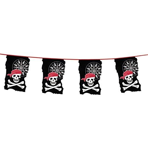 Guirlande Fanion Pirate 10 m- Anniversaire