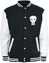 The Punisher Logo Cazadora tipo universitario negro-blanco