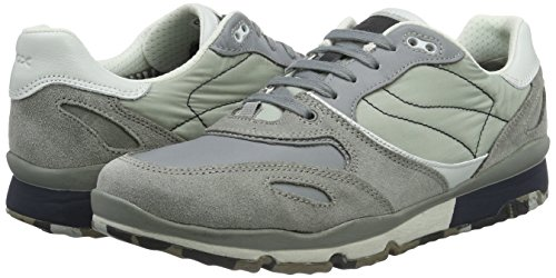 Geox U SANDFORD A Sneakers Uomo, Grigio (Stone/Navyc9032), 43 EU