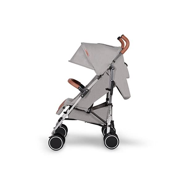 Ickle Bubba Baby Discovery Stroller| Lightweight Stroller Pushchair | Compact Fold Technology for Easy Transport and Storage | UPF 50+ Extendable Hood | Grey/Silver Ickle Bubba ONE-HANDED 3 POSITION SEAT RECLINE: Baby stroller suitable from 6 months to 22kg. 4 years old; features rain cover UPF 50+ RATED ADJUSTABLE HOOD: Includes a peekaboo window to keep an eye on the little one; extendable hood-UPF rated-to protect against the sun's harmful rays and inclement weather LIGHTWEIGHT DESIGN WITH COMPACT FOLD TECHNOLOGY: Easy to transport, aluminum frame is lightweight and portable-weighs only 7kg; folds compact for storage in small places; carry strap and leather shoulder pad included 4