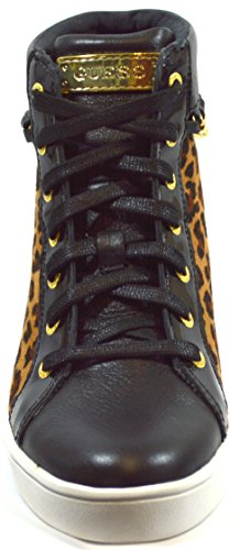 GUESS donna sneakers alte FL3GOR FAP12 nero/leopardato Leopardato