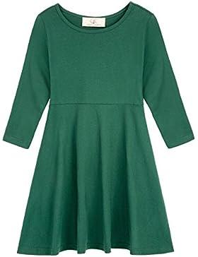 GRACE KARIN Vestido Mangas Largas de Invierno Otoño Algodón Vestido de Camiseta para Niñas Bebés 18Meses-12Años