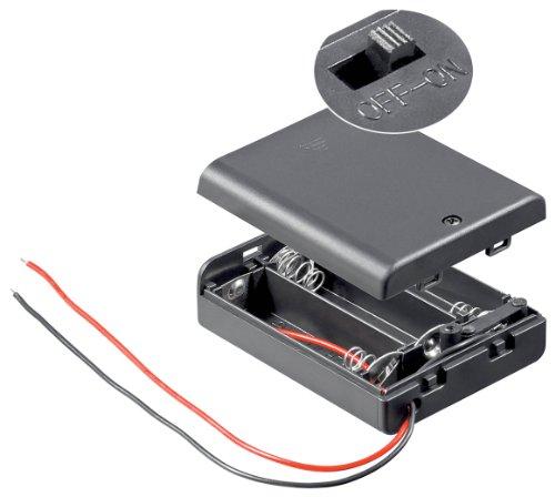 Batteriehalter, 3xmignon 'AA', geschlossenes Gehäuse Test