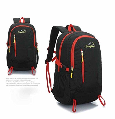 AllureFeng Outdoor wasserdicht Bergsteigen Taschen bulk-Bewegung von Männern und Frauen reisen Fitness pur Rucksack Rucksack Laptop-Tasche Black