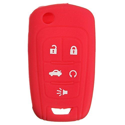 JenNiFer Silikon-Key-Case Holder Fob Protector Cover Für Chevrolet Camaro - Rot