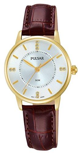 Pulsar Damen-Armbanduhr Analog Quarz Leder PH8182X1 -