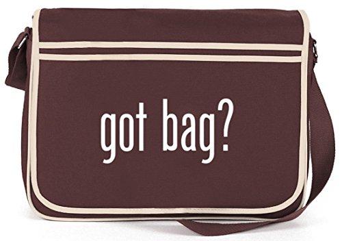 Shirtstreet24, Got Bag? Retro Messenger Bag Kuriertasche Umhängetasche Braun