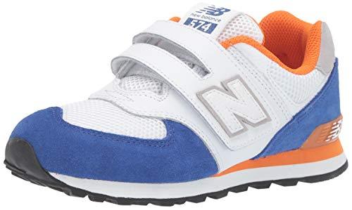 New Balance Baby Jungen 574 Sneaker,Weiß (White/Blue White/Blue)23.5  EU (New Balance Schuhe Baby Junge)