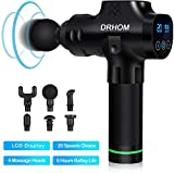 DRHOM Massagepistole Muskelmassage Gun mit 20 Geschwindigkeiten 6 Massageköpfen Einstellbar Und Touchscreen-Bedienfeld