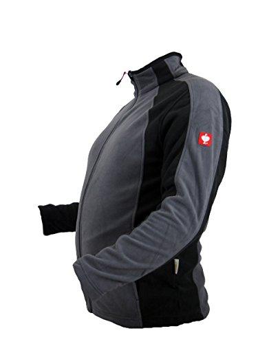 Engelbert Strauss e.s. microflece Jacke dryplexx® micro Weiss/Schwarz/Grau (Grau, XL)