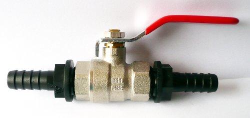 inscale IBC Tuyau femelle de réparation avec 1/Inline 5,1 cm en laiton Ball Valve pour tuyau Tails 1/2\