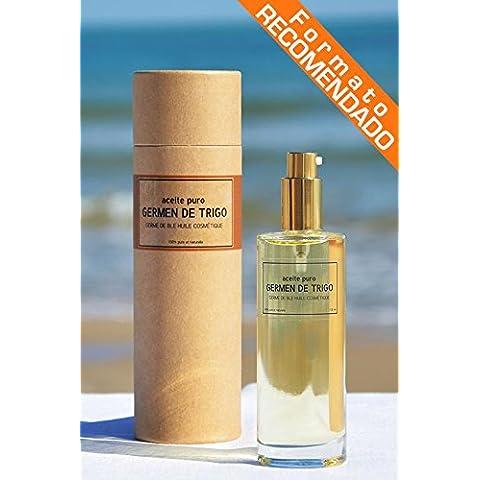 Aceite de GERMEN DE TRIGO Cosmetico 100% Puro [_Dosificador 100 ML_], BIO, 1ª Presion en Frio, para piel y