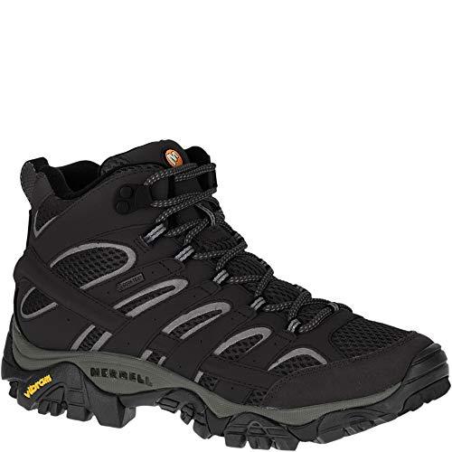Merrell Damen Moab 2 Mid Gore-tex Trekking- & Wanderstiefel, Schwarz (Black Black), 38.5 EU