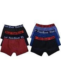 6 o 12 Pairs Boys Bóxers de algodón diseño Bañador bóxer ropa interior 5-13