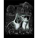 Mammut 136010 - Kratzbild-Spielende Katzen