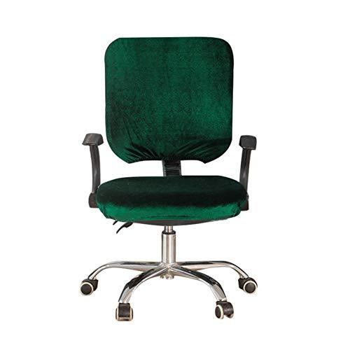 myonly Computer-Chefsessel-Überzug, Schonbezug für Bürotischstuhl, Stretch, drehbar, Reine Farbe, abnehmbar, Dehnbare Bezüge, Universal Sesselbezug (ohne Stuhl) grün