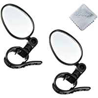 Boladge 2pcs 360 ° drehen Universal Fahrrad Lenker Rückspiegel verstellbare Radfahren Lenker montiert konvexen Reflektor Glas Spiegel