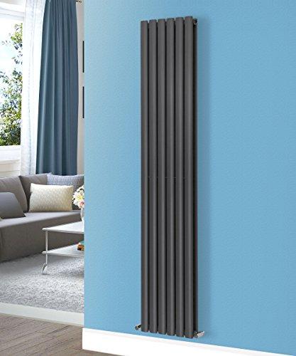 Panel Designer Heizkörper (nrg-radiator Designer vertikalen Oval Spalte Heizkörper Anthrazit Badezimmer Zentralheizung)