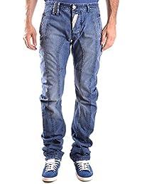 Galliano Herren MCBI130119O Blau Baumwolle Jeans
