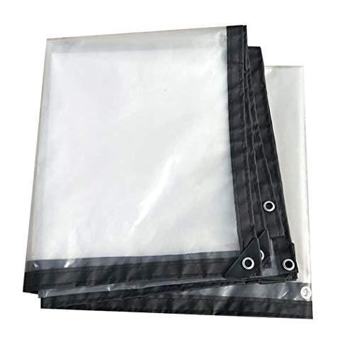 DPPAN Tarps wasserdicht, transparente Plane wasserdicht Poly Tarp Abdeckung, Zelt Shelter Tarp Abdeckung für Boot, Wohnmobil oder Pool,4x4m