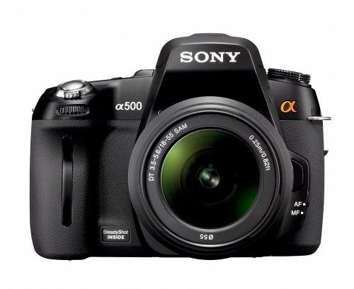 Sony DSLR-A500L SLR-Digitalkamera (12 Megapixel, BIONZ Bildprozessor, Live-View) inkl. 18-55 mm F3,5-5,6 Objektiv