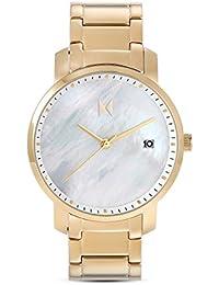 Reloj De Cuarzo Signature Gold Pearl MF01de G