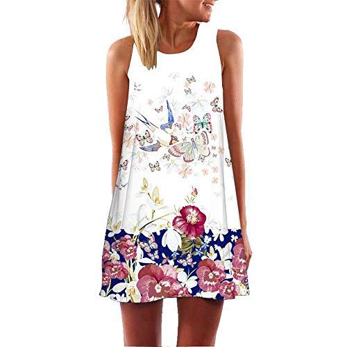 XuxMim Damen Elegant Etuikleider Knielang Business Ärmellos Bleistiftkleid(Weiß-2,Large) (Tasche Fee Mädchen Kostüm)